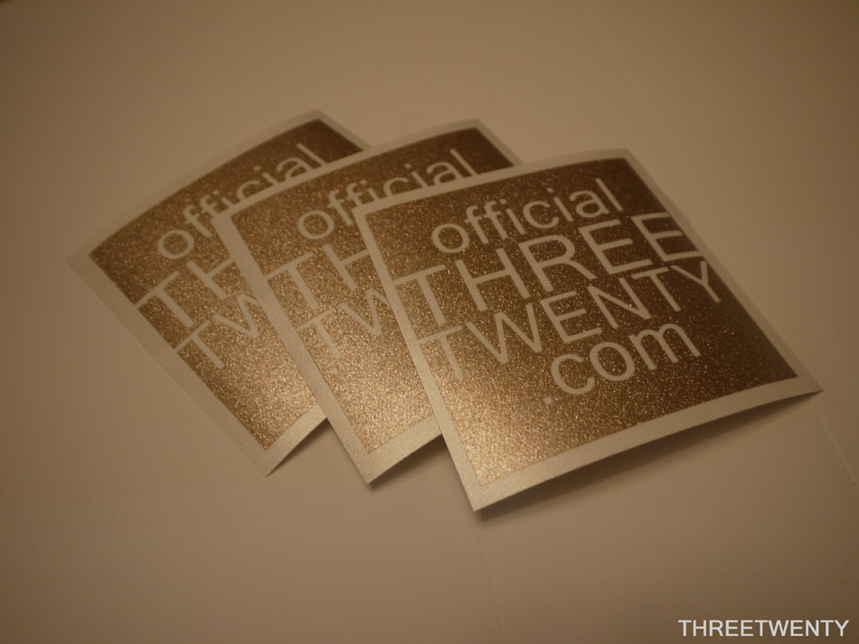 Gold square decals