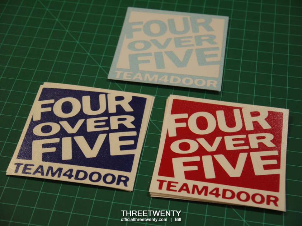 FourOverFive decals 1